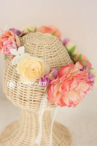 ロザリウム(Rosarium) 花冠 アーティフィシャルフラワー. Japanese wedding flowers