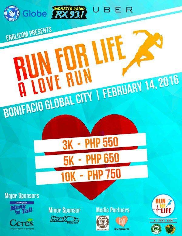 Run for Life a Love Run Health Junkie poster 2