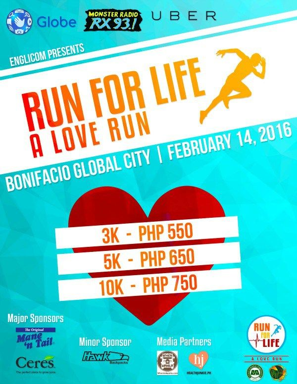Run for Life a Love Run Health Junkie poster 2
