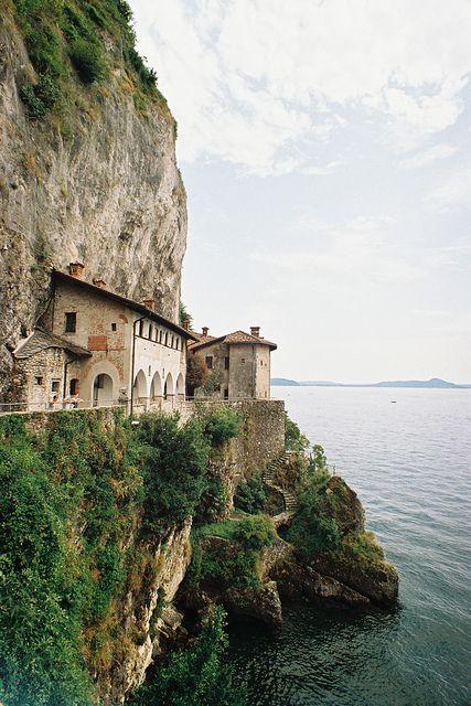 Hermitage of Santa Caterina del Sasso, Perched on a Rocky Ledge over Lake Maggiore in Leggiuno, Italy