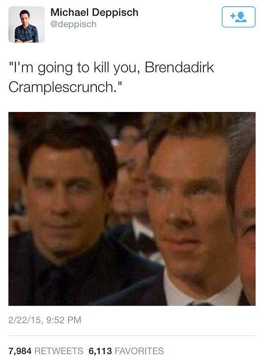 Brendadirk Cramplescrunch Meme From the Oscars 2015 | POPSUGAR Celebrity