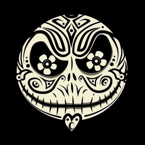 Sugar skull Jack Skellington---cool design no real function for the wedding