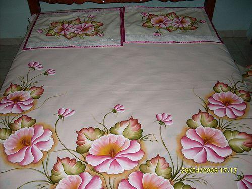 colchas pintadas em tecido - Pesquisa Google