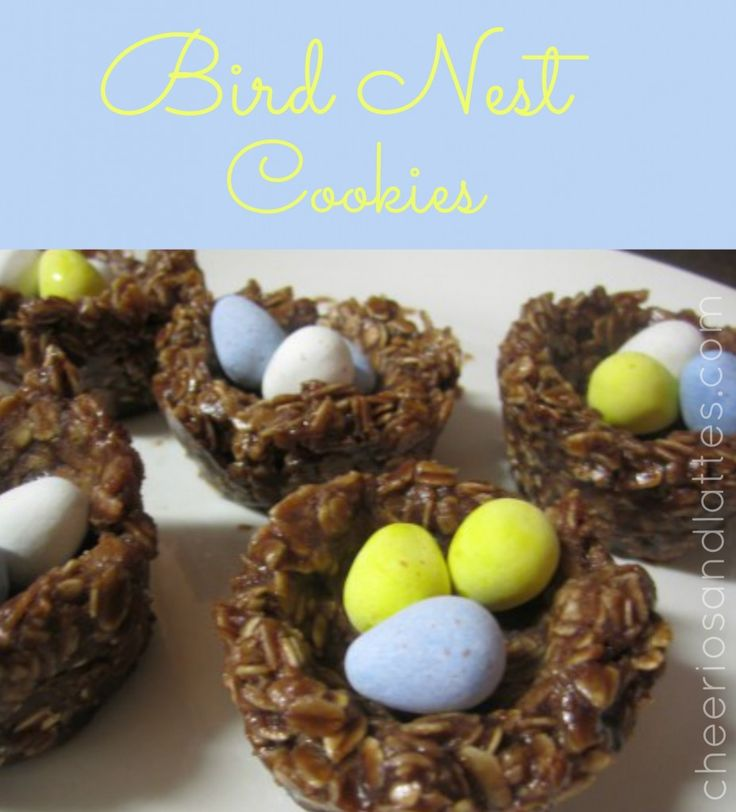 Bird Nest Cookies APRIL 10, 2012 BY MACKENZIE 5 COMMENTS  This recipe involves two of my favorites…Cadbury Mini Eggs & No-Bake Cookies! Here is a reason to stock up on Cadbury Mini Eggs at all the after-Easter candy sales. These Bird Egg Nests are a very cute treat, a great kid-friendly cooking activity, and easy to make ahead of time for an upcoming event!  Ingredients: 1 Bag of Cadbury Mini Eggs 1/2 cup Butter 1/2 cup Milk 2 cups Sugar 1/3 cup Cocoa Powder 1 teaspoon Vanilla Extract 1/2…