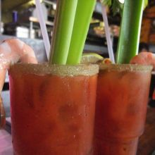 Bloody mary 1 Tomato Juice (12 oz,Campbell's 2 Fresh sq lemon juice 3 Fresh sq lime juice 4 A-1 steak sauce (1 tsp) 5 Worcestershire sauce (1 tsp) 6 Olive juice (1 tbsp) 7 Hot sauce (not tabasco) (1 tsp) 8 Celery seeds crushed or powder (not salt) 9  Vodka (2 oz)