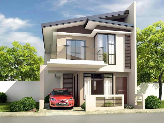 Two Story House Design Photos Luxury Simple But Elegant Two Story House Design Bahay Narrow House Designs Beautiful House Plans Small House Design Philippines