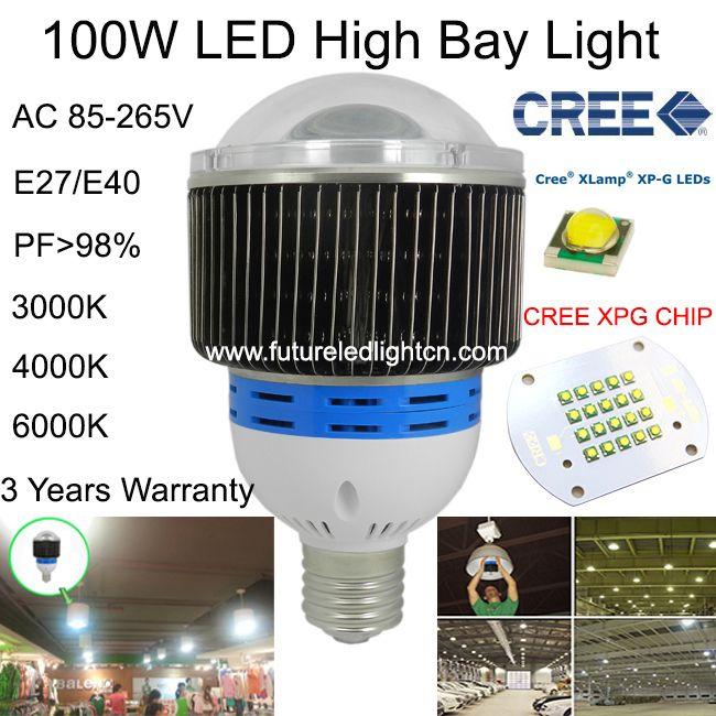 100 Вт ВЕЛО высокий свет залива CREE завод лампы светодиодные промышленное освещение для facotry/warehouse/supermarkets/AC85-265V 3 года гарантии