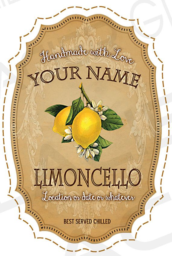 I EDIT, YOU PRINT. NOTHING WILL BE MAILED. This listing is for one set of DIGITAL Personalized DIY Limoncello Gift favor labels, Wedding Favor Digital Download, Printable Canning Labels, Custom Label Sheet, Wedding Gift Tags, Apothecary labels, DIY Limoncello labels. Size: 2 x 3 - 51mm x 76mm  These custom canning labels measure approximately 2 x 3 inches each and you get 8 labels per 11 inch x 8.5 inch (A4) printable sheet. The design has outlines for easy cutting. Once printed, they can be…