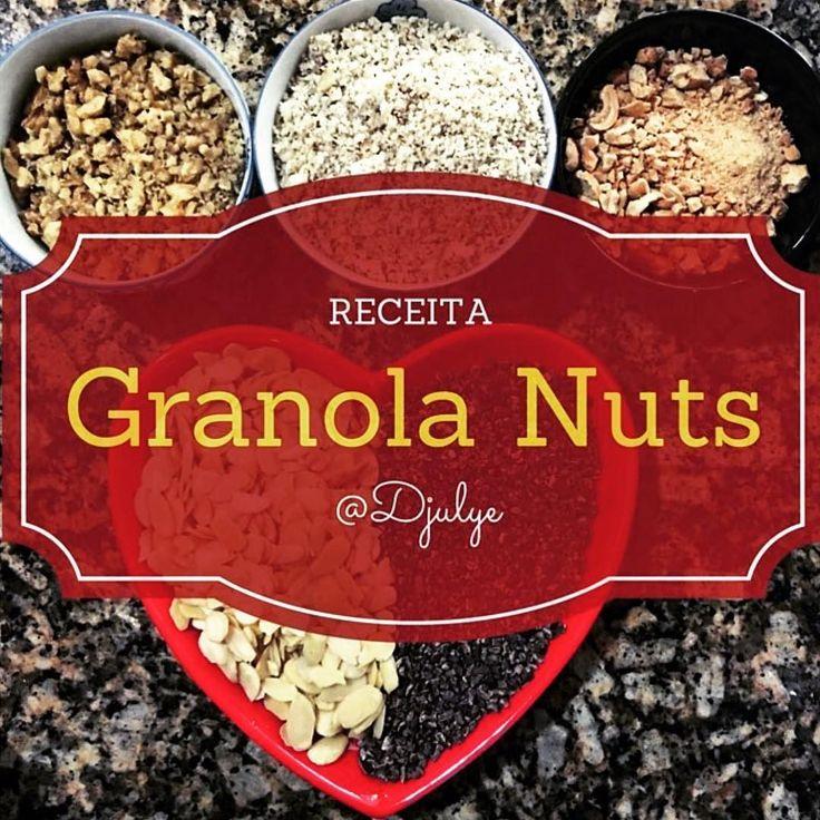 """Ontem mostrei a Granola maraaa de nuts que a Original Blend por @laisecorti vende.  Para quem como eu ama o """"prep"""" essa é a receita que faço há tempos e chamo de """"Nutolla"""". #Repost @djulye  Granola de nuts que deveria se chamar de Nutolla  Mostrei no snap (Djulye) o passo a passo.  Mas eu fiz com o que eu tinha em casa e não com as mesmas nuts e sementes da receita. Olha lá   Receita:  Ingredientes  2/4 xícara de castanhas de caju 2/4 xícara de amêndoas 2/4 xícara de castanha do pará 2/4…"""