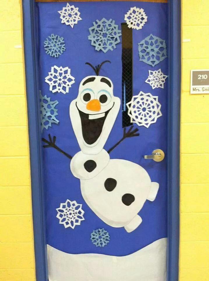 puerta decorada clase pinterest navidad frozen and eyes