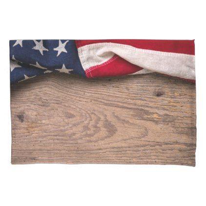 #Vintage American Flag Border Pillow Case - #Pillowcases #Pillowcase #Home #Bed #Bedding #Living