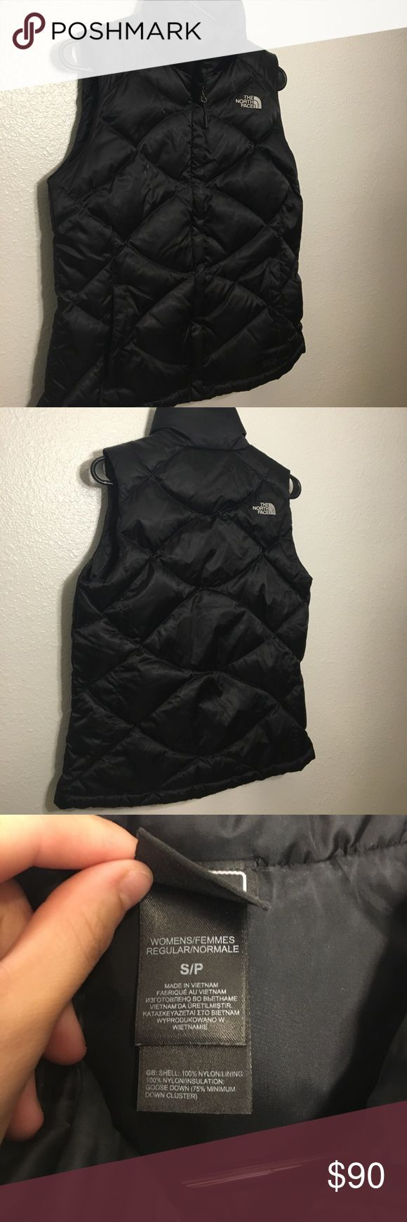 Size small north face vest Size small north face vest, slightly worn all zippers work super fluffy and warm (: North Face Jackets & Coats Vests
