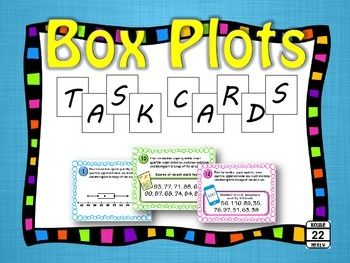 Box and Whisker Plots can be challenging for students. This set of task cards can help them navigate everything from the quartiles to the extremes!