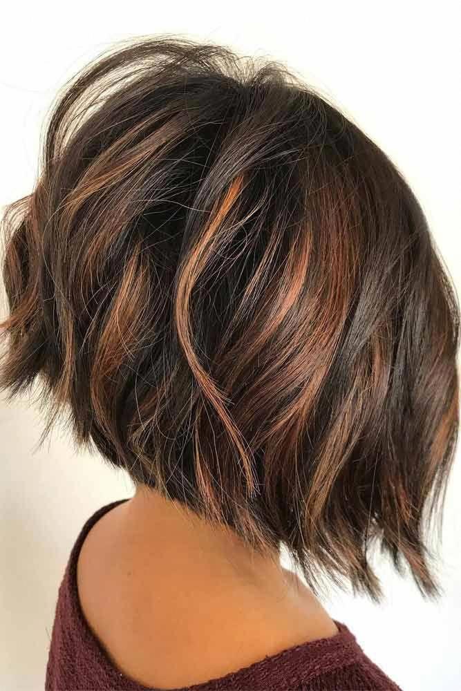 Dramatic Dark Brown Bob Shortombrehair Highlights Shorthair Bobhaircut Brownhair Ombrepix In 2020 Brunette Hair Color Short Ombre Hair Brown Hair With Highlights