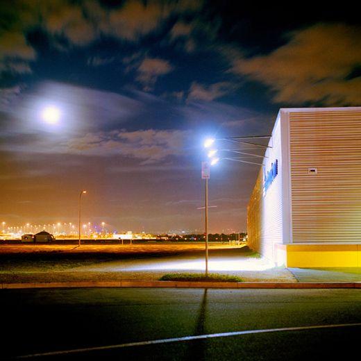 Mark Kimber - Moonrise over airport, 2008