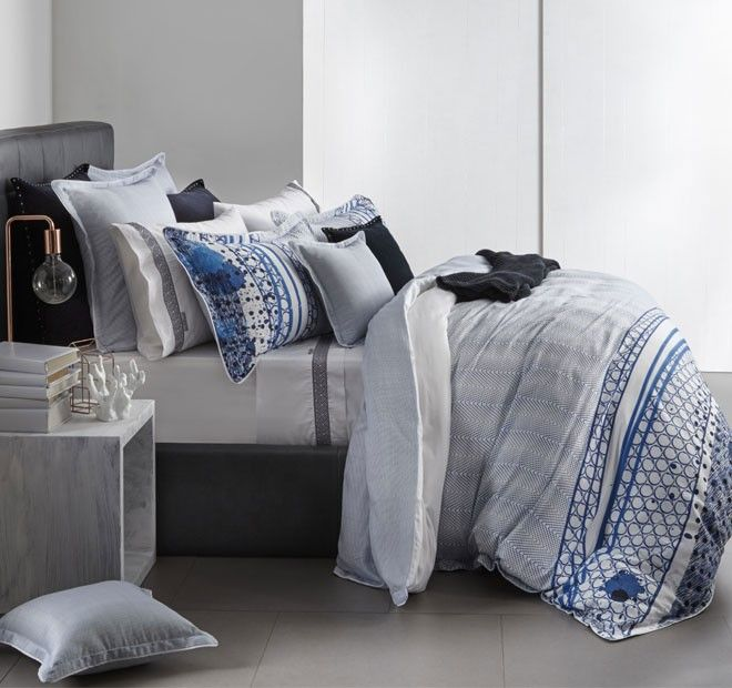 Pacific Quilt Cover Set Range Navy   Manchester Warehouse