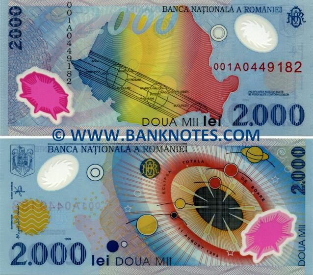 romania currency | Romania 2000 Lei 1999 - Romanian Currency Bank Notes, Paper Money ...