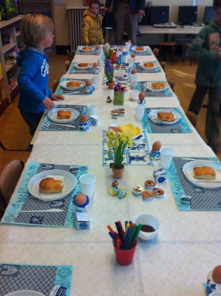Delfts blauw paasontbijt