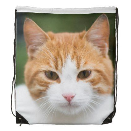 Beautiful red cat drawstring backpack - accessories accessory gift idea stylish unique custom