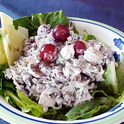 Wild Rice Salad - here's what to do with leftover wild rice (I had a ton after another recipe)... sooo delicious, so easy.  My 6yo loved it, too.