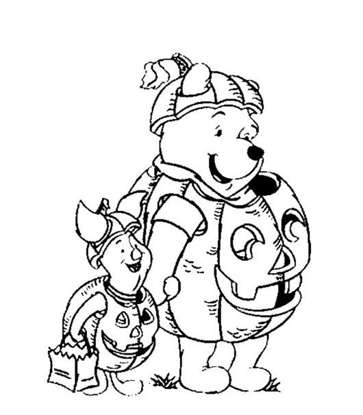 disney pumpkin coloring pages | 74 best Pooh Bear Coloring Pages images on Pinterest ...