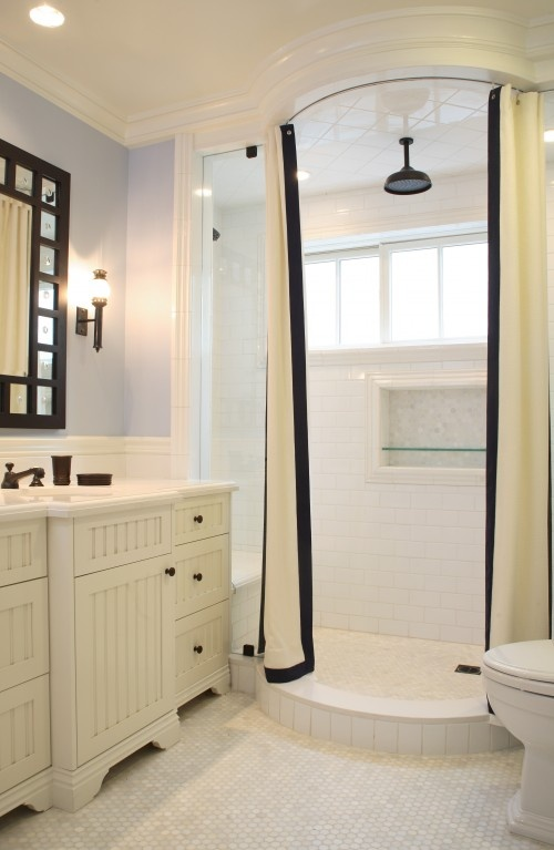 How attractive.: Showers, Shower Design, Reaume Construction, Traditional Bathroom, Bathroom Ideas, Bathroom Shower, Shower Curtains