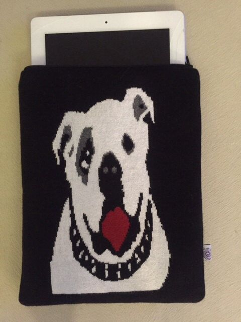 English Bulldog Knitwear lpad Case; Ipad Case; Knitwear ipad case by HELIXSIS on Etsy