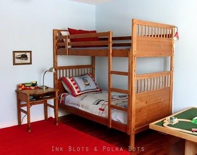 Ink Blots Polka Dots A Boy S Train Themed Bedroom