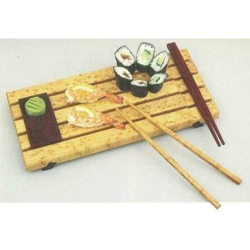 Sushi Set In this plan you'll find: step-by-step construction instructions, a complete bill of materials, construction drawings/related photos, and tips to help you complete the project and become a better woodworker.