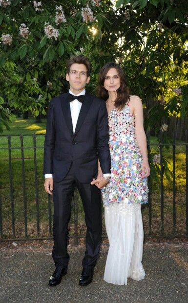 Keira with her husband.