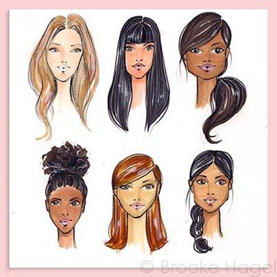 Fabulous Doodles-Brooke Hagel-Fashion Illustration Blog: Tuesday Tip: Faces
