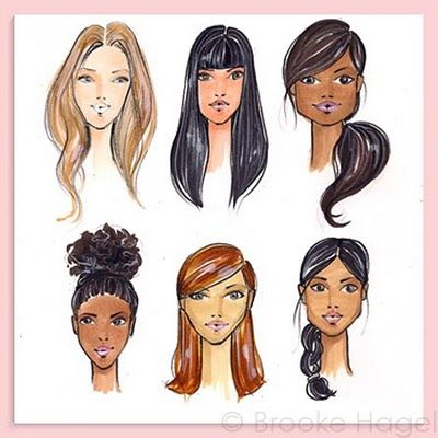 Fabulous Doodles-Brooke Hagel-Fashion Illustration Blog: Tuesday Tip: Faces