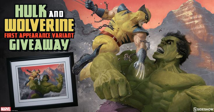 Sideshow - Win a Hulk and Wolverine: First Appearance Variant Framed Art Print - http://sweepstakesden.com/sideshow-win-a-hulk-and-wolverine-first-appearance-variant-framed-art-print/