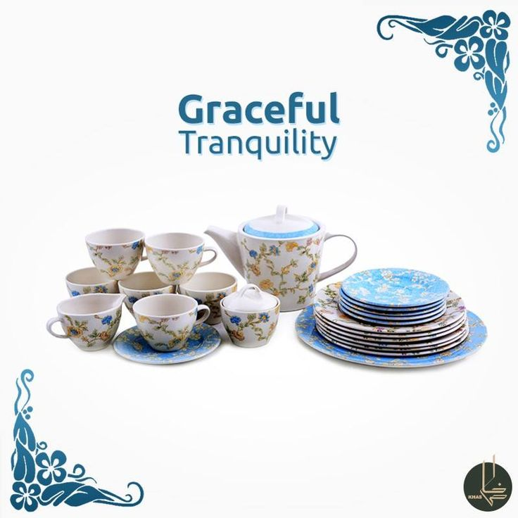 In this wedding season, gift this gorgeous six person Vindsor clay tea set in blossom blue to your precious couple. #KhasDining #Crockery #KhasWedding