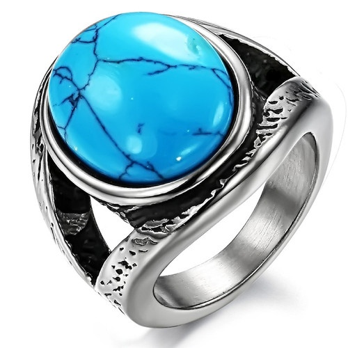 Even a man may sport a big, chunky ring. This one is a great choice.