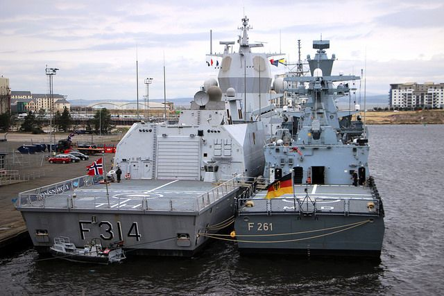 F314 Royal Norwegian Navy F261 German Navy Leith Warship Navy Royal Navy