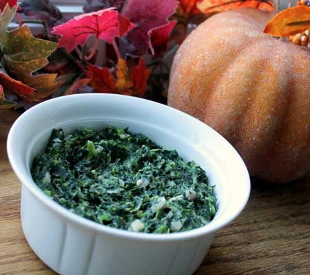 Lightened Up Creamed Spinach Recipe