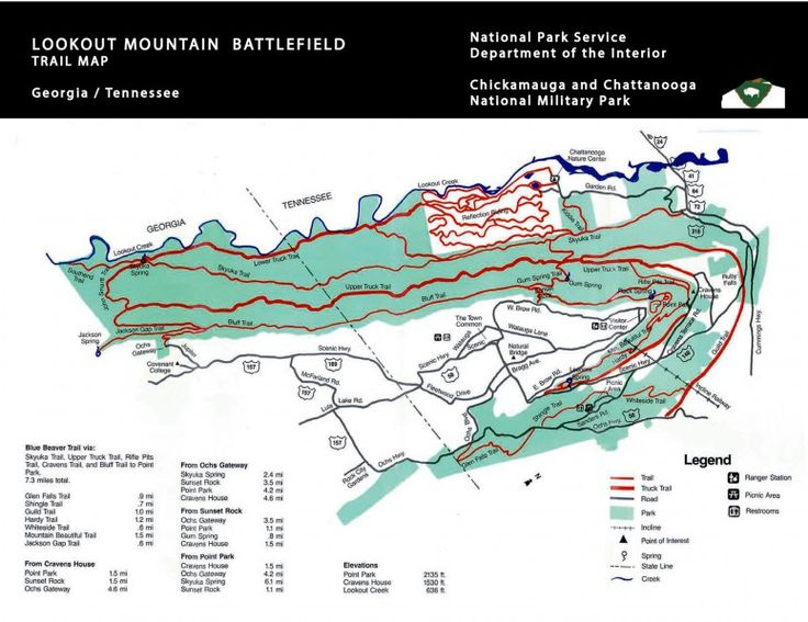 32 best Map of chattanooga and Lookout mountain images on Pinterest