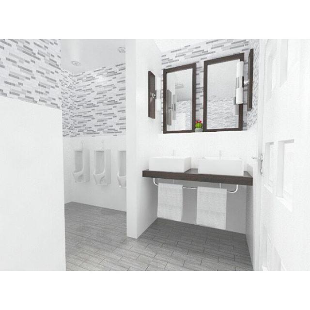 Clean Bathroom Interior Design . . . . . #clean #cleandesign #interior #interiordesign #simple #simpledesign #work #project #office #bathroom #homedecor #homedecoration #3d #3drendering #furnituredesign #white  #pandumdesignworks