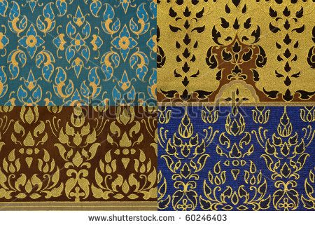 Thai print cloth texture