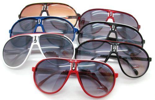 2016 Men & Women'S Retro Sunglasses Unisex Matte Frame Carrera Glasses White+Box