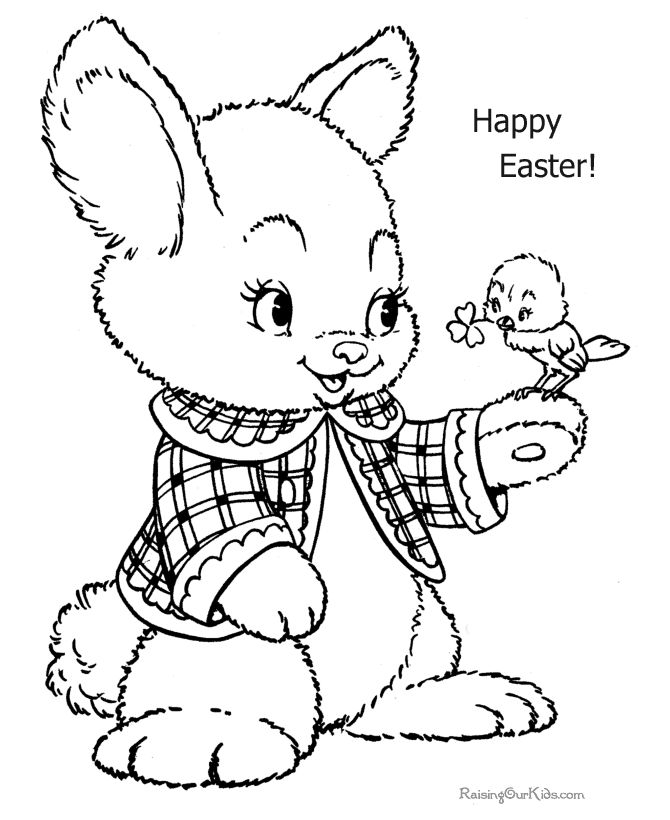 Happy Easter Coloring Pages Think