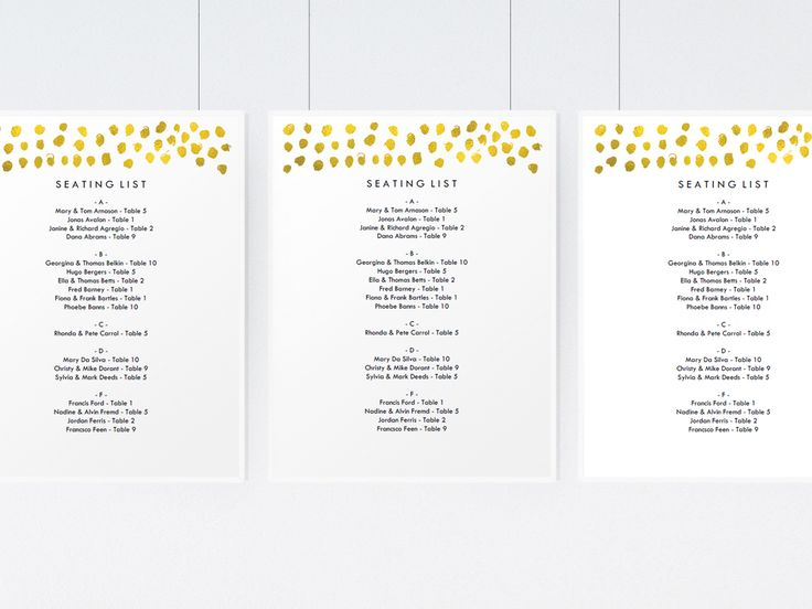 Best Wedding Seating Chart Templates Images On