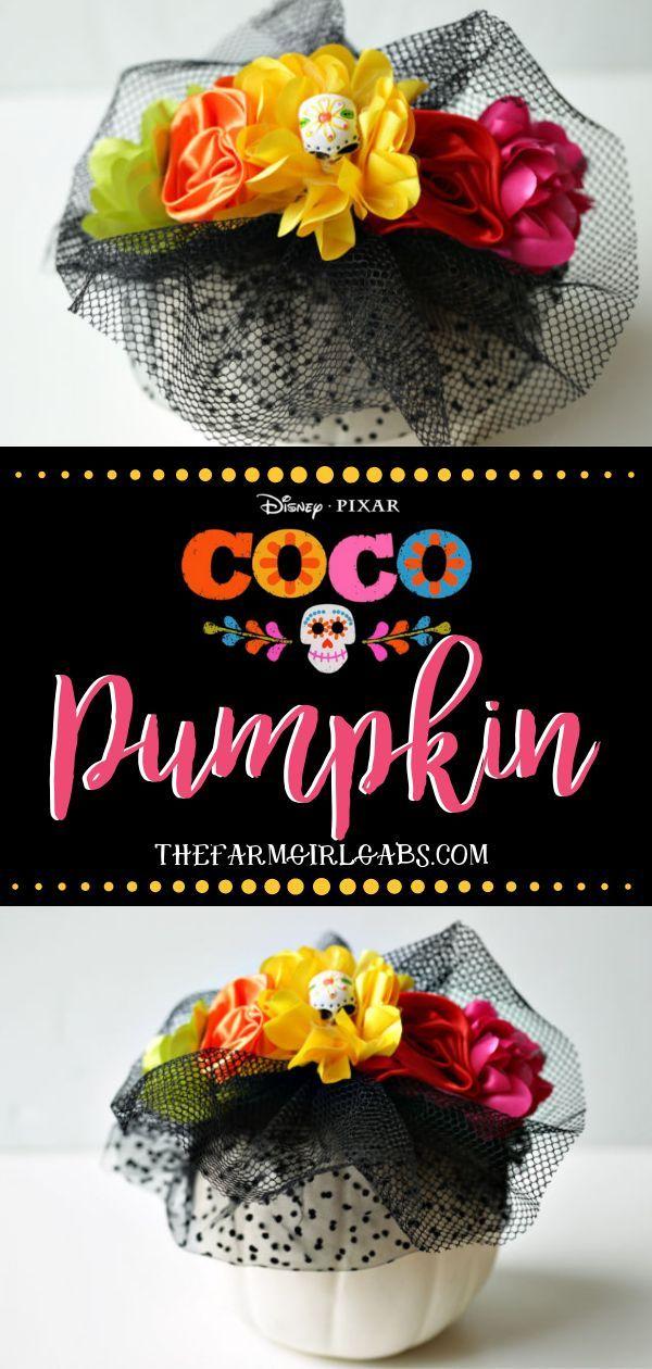 Disney Pixar Coco Pumpkin Halloween Crafts For Kids Disney Diy