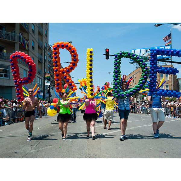 Chicago Pride Parade and more LGBTQ events for Pride Month 2017 ❤ liked on Polyvore featuring pride