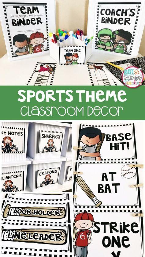 sports theme classroom kit editable sports theme pinterest