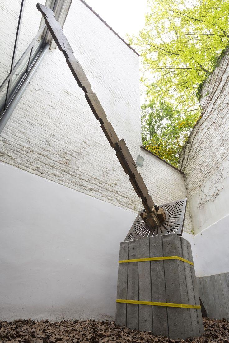 Santiago Reyes Villaveces | Indented | 2016 | wood, concrete, metal | 500x300x100 cm