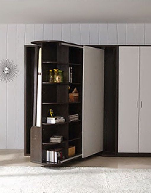 Rotating Bookcase Wall Bed Half Spin By Expand Furniture House Stuff