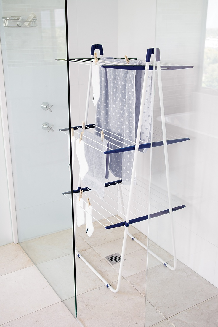 Tight on space invest in the leifheit in shower drying - Howards storage ...
