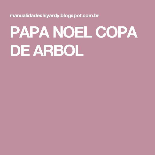 PAPA NOEL COPA DE ARBOL
